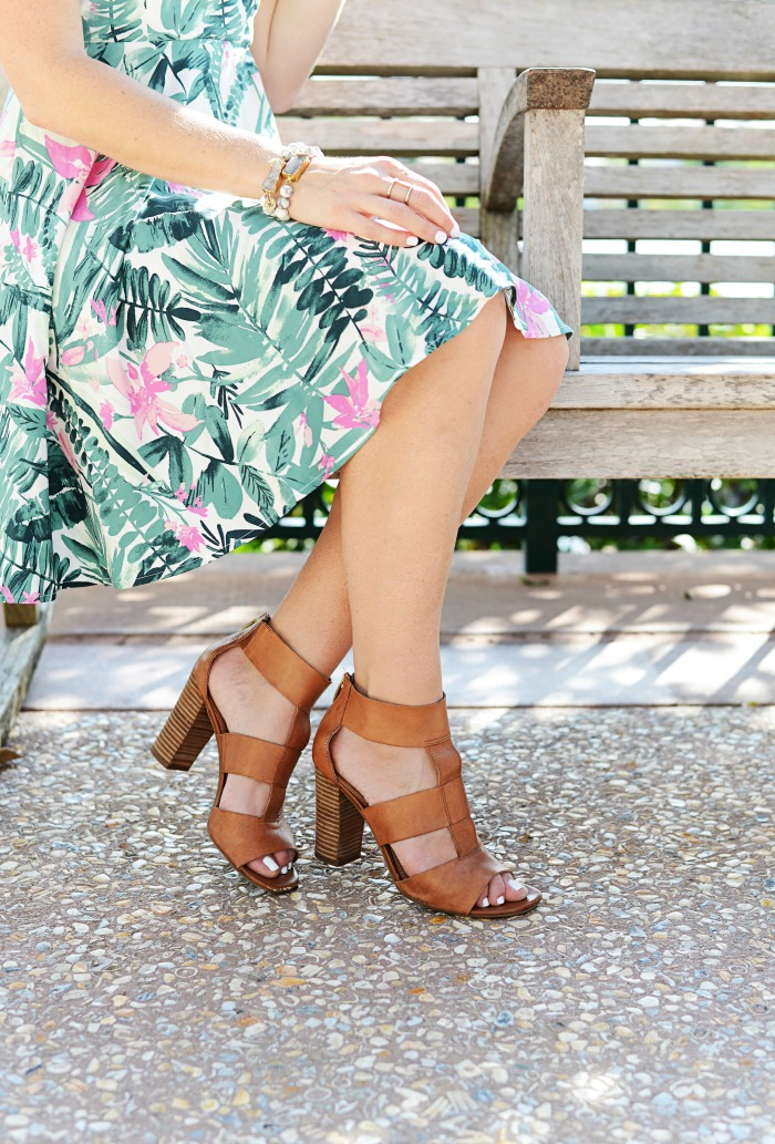 palm print dress with tj maxx shoes