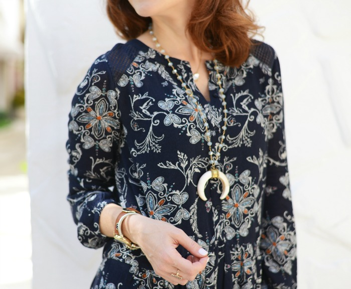 Fall florals with Alexandra Gioia necklace