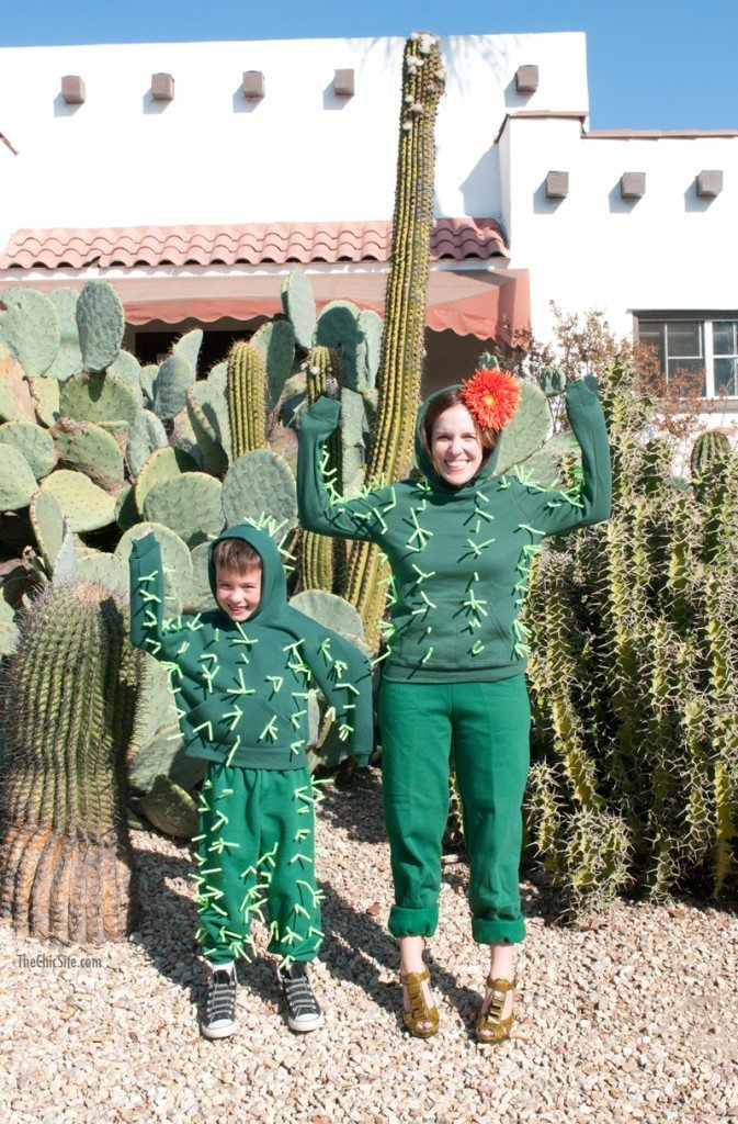 Cactus Costume idea, plus six more super easy last minute Halloween DIY costume ideas