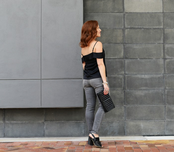 Get the cold shoulder look with these dark neutrals