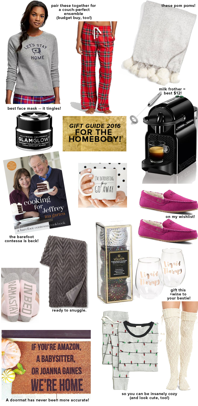 Gift Guide for the homebody, for a cozy night in