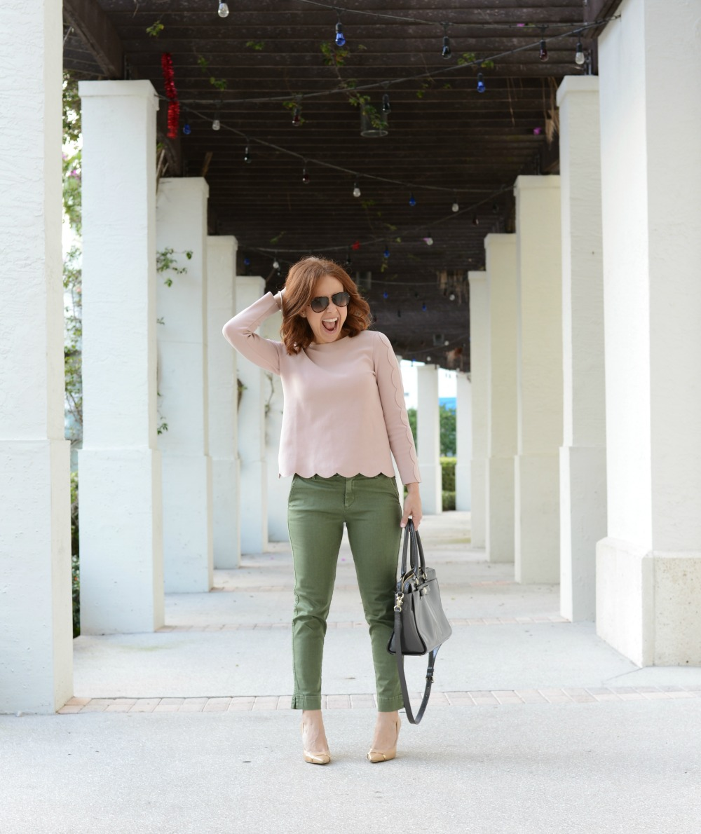 Two ways to wear crop chinos from work to weekend! Click through to see more and where to shop the post!