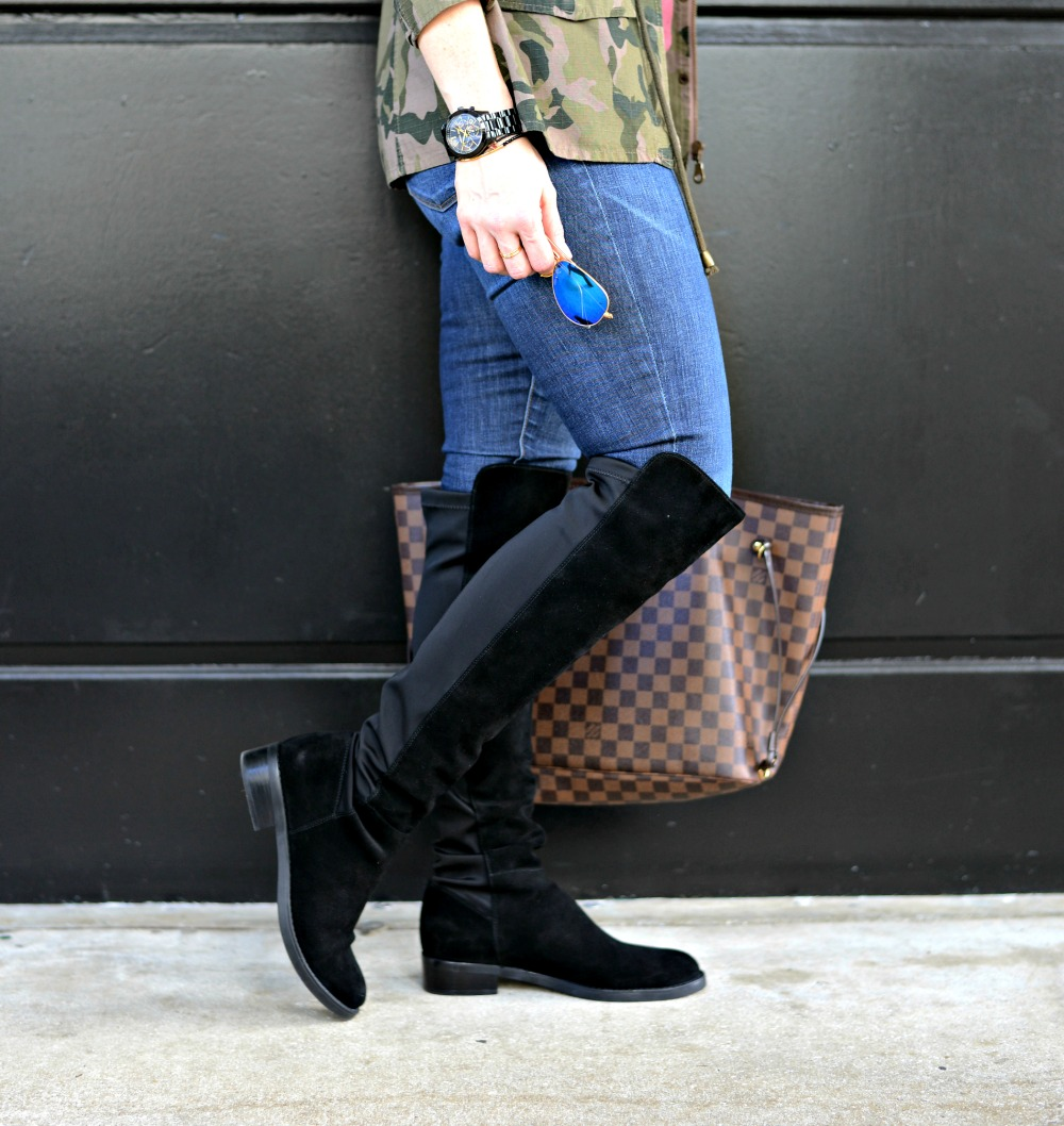 How to style over the knee boots in warmer climates. Check out this look & get lots more inspiration!