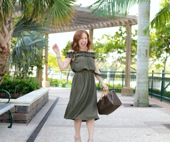 Midi Dress style on a petite girl (and why it's fun to embrace new styles! // the modern savvy - Who What Wear midi dress styled by popular Florida fashion blogger, The Modern Savvy - Embracing New Styles with a Who What Wear midi dress featured by popular Florida fashion blogger, The Modern Savvy