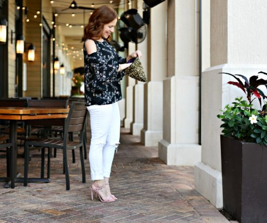 how to wear a cold shoulder blouse for spring // the modern savvy