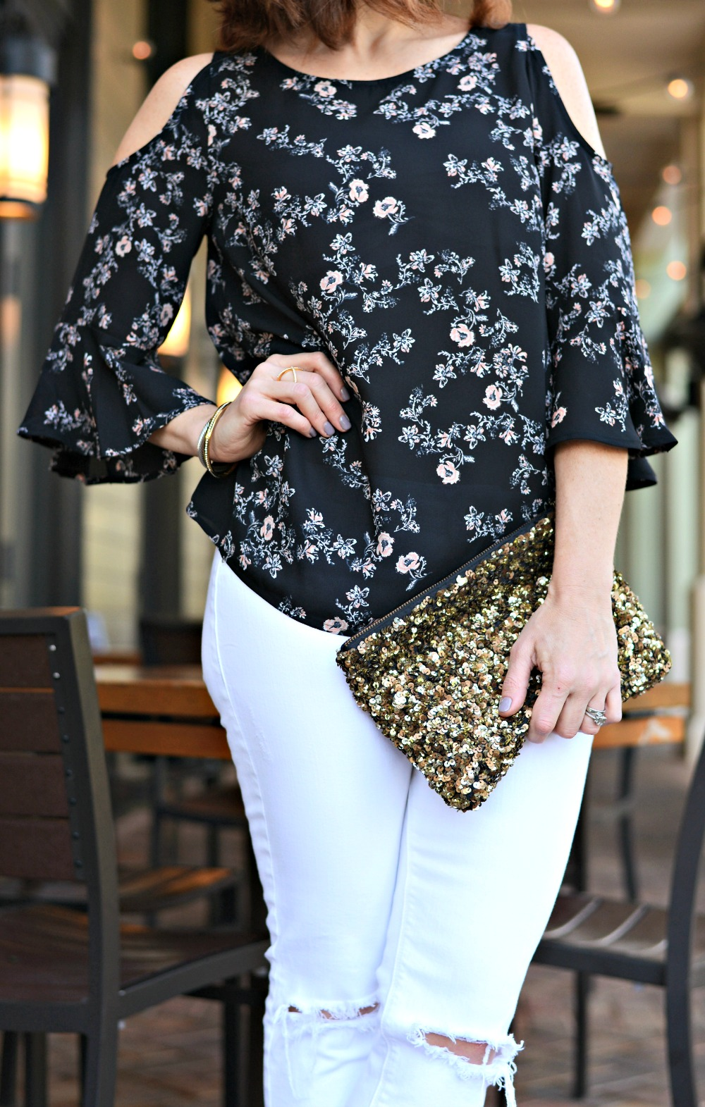 sequin clutch to elevate any look // the modern savvy