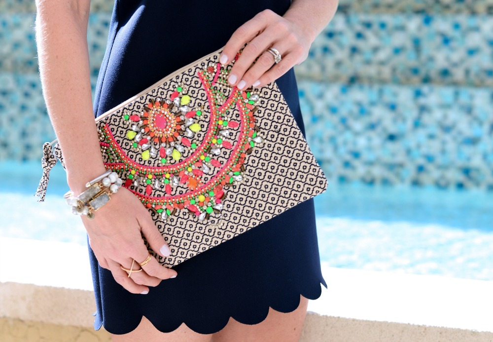 An embroidered clutch instantly elevates every outfit // the modern savvy