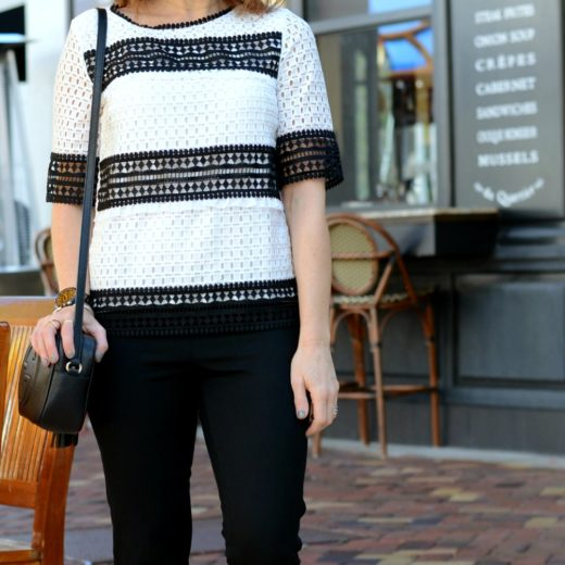 Eyelet and stripes for work // the modern savvy