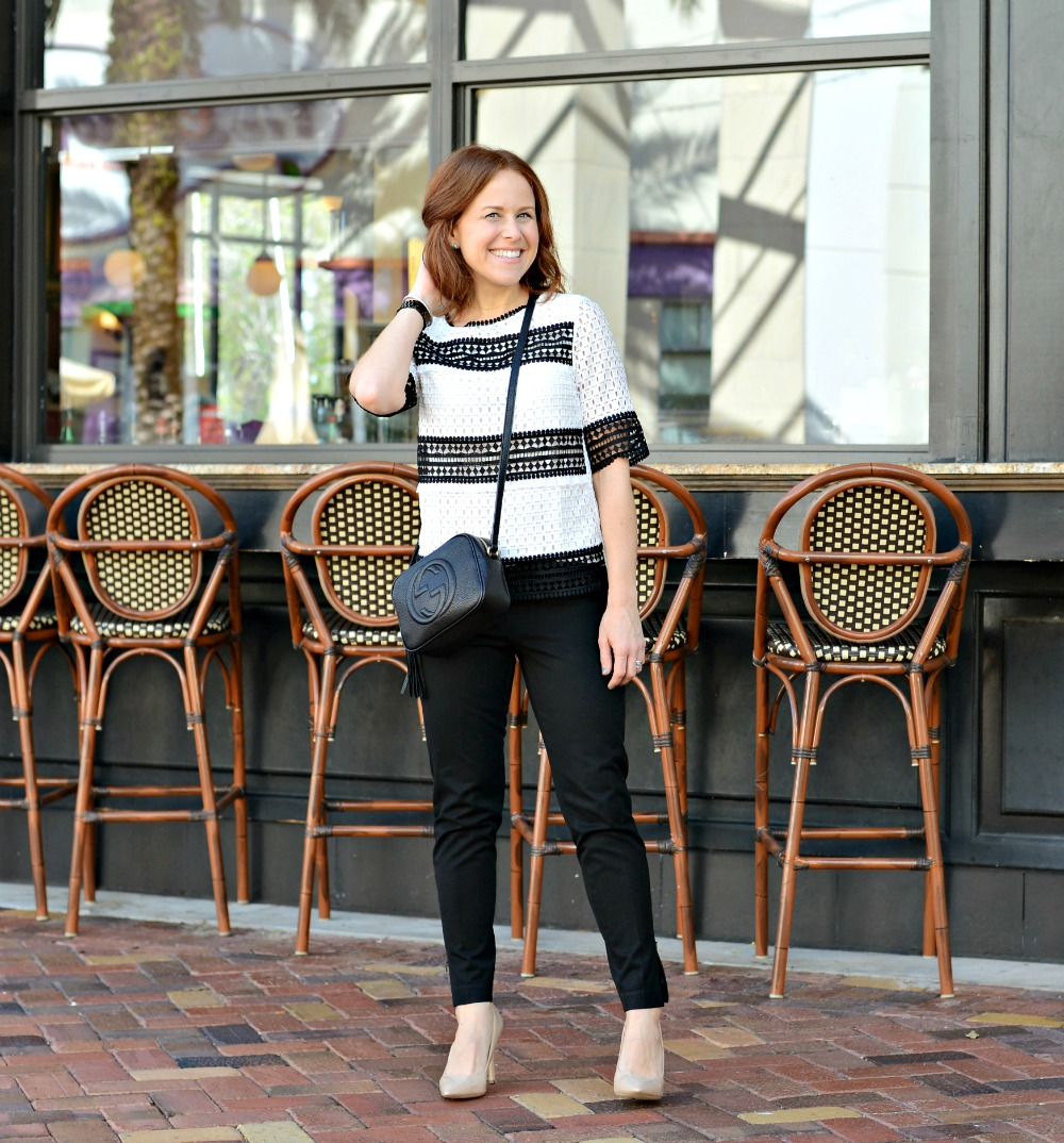 Cute black and work work / mom style // the modern savvy