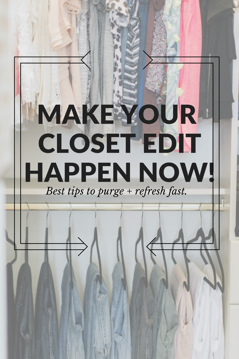 How to Effectively Edit your Closet and Refresh Your Wardrobe Now // The Modern Savvy