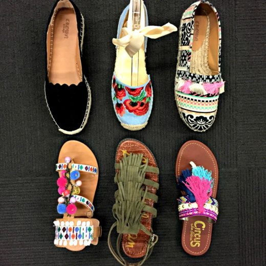 Six pairs of must-have spring footwear, fringe, scallops and pom pom cuteness