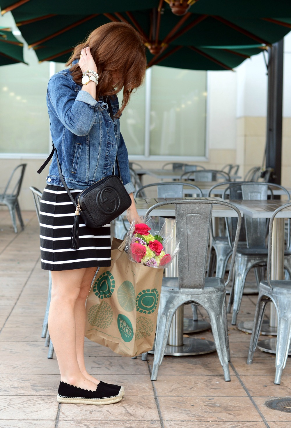 Classic outfit combo: Striped dress & denim jacket // the modern savvy