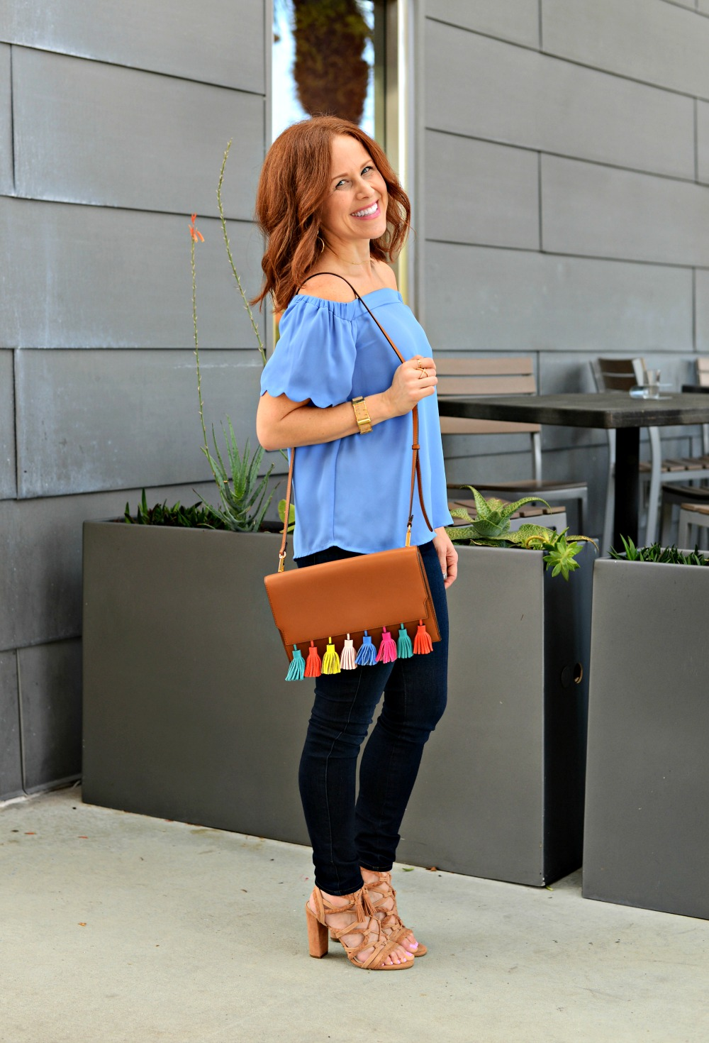 Scalloped off the shoulder blouse (that's under $50!) // The Modern Savvy