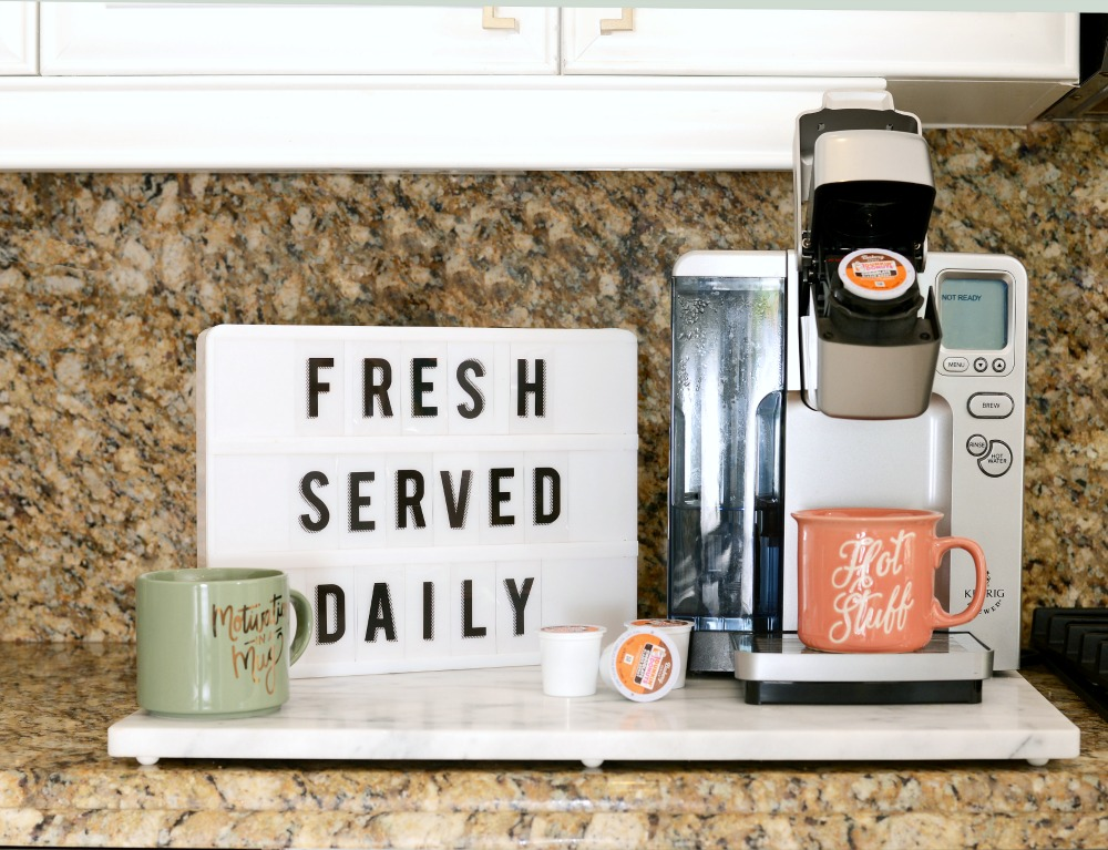Best tips to make your own cute coffee station, and what you need for a girls morning in // the modern savvy