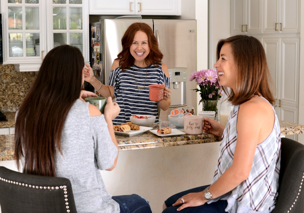 How to quickly prep for a morning in with your girls (including a fun coffee bar!)