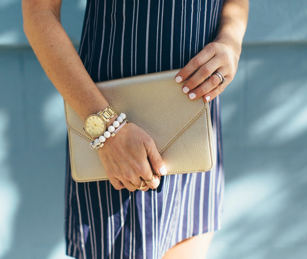 Metallics and stripes for summer // the modern savvy, a life & style blog