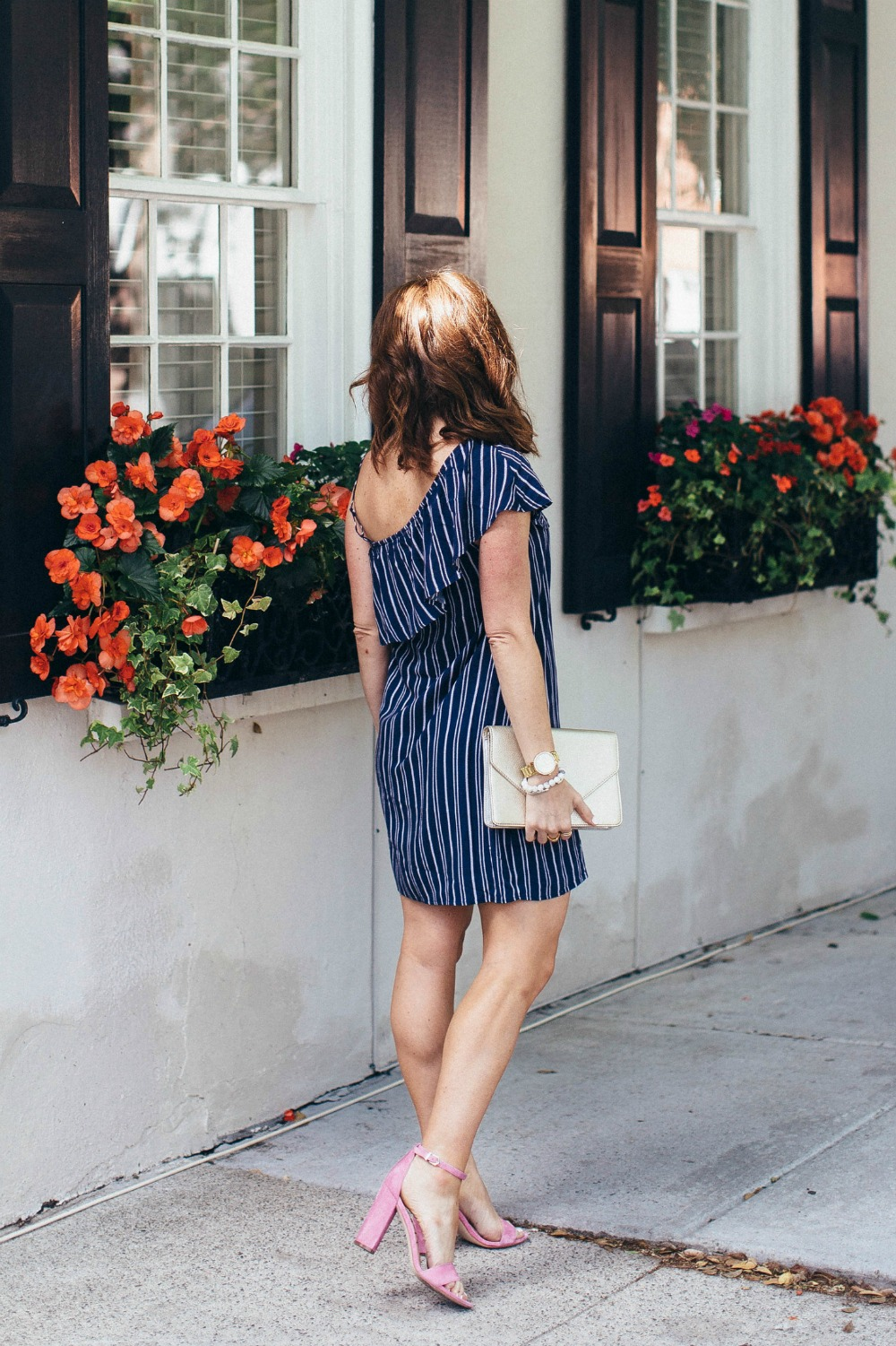 The $35 striped, ruffled, one-shouldered dress that you probably need // the modern savvy, a life & style blog
