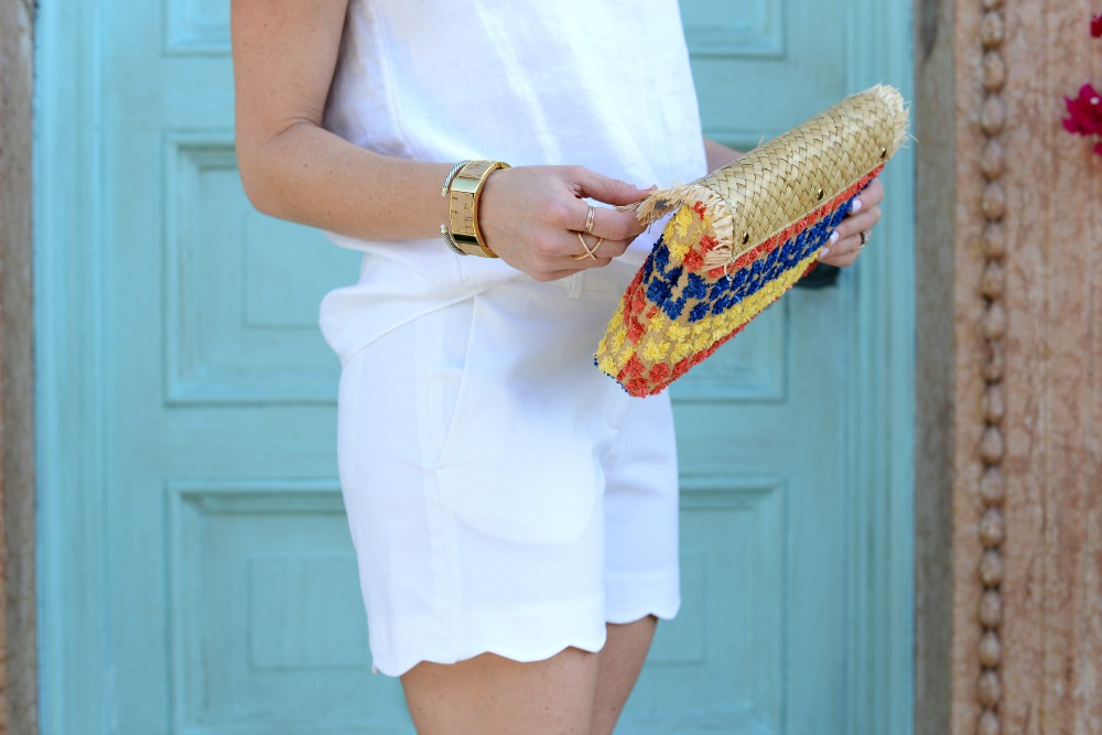Scalloped shorts love affair with this all white outfit // the modern savvy, a life & style blog