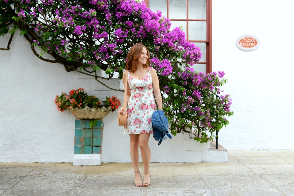 Floral dress for spring // the modern savvy, a life & style blog for women over 30