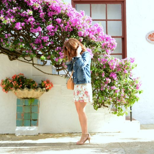 Floral dress in Palm Beach // modern savvy, a life & style blog for women over 30