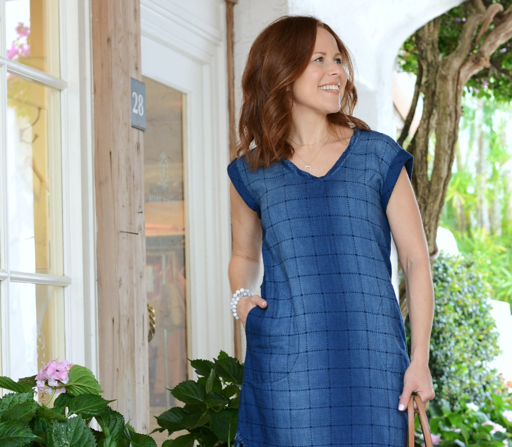 Another Anthropologie winner -- this super soft denim dress is perfect to dress up or down // the modern savvy