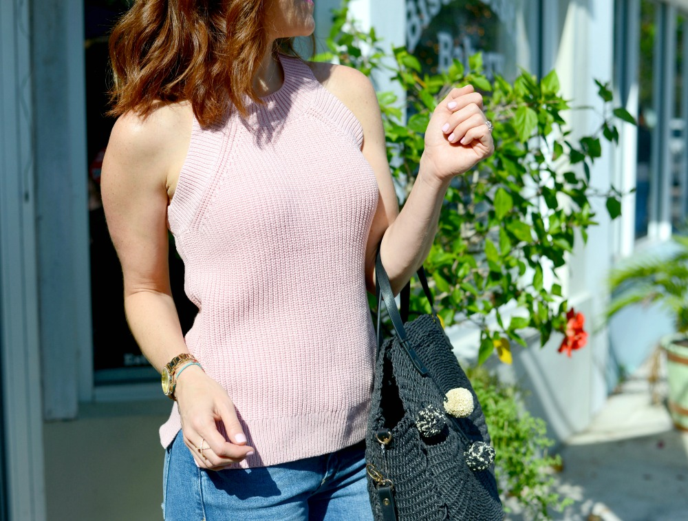 pink halter sweater // the modern savvy