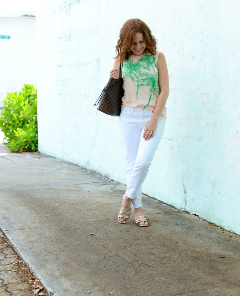Easy summer style, white denim inspiration