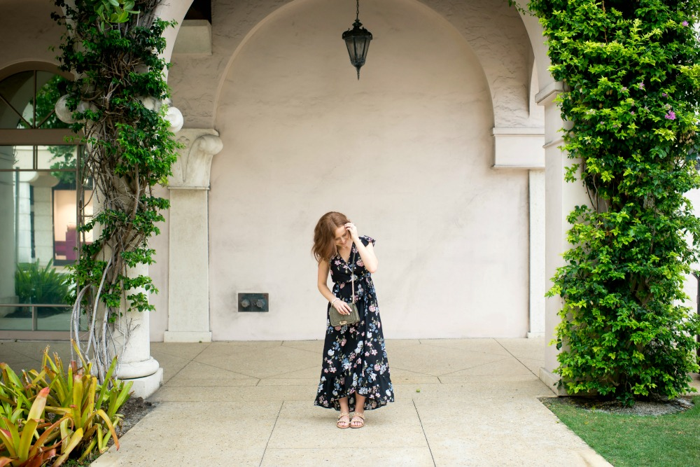 Floral maxi dress, styled from day to night // the modern savvy