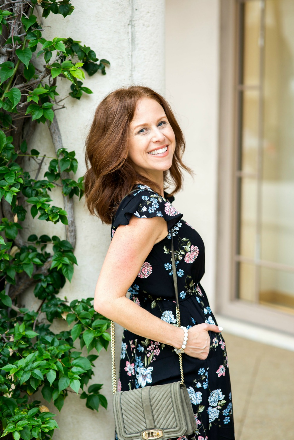 floral maxi dress styled by alyson seligman