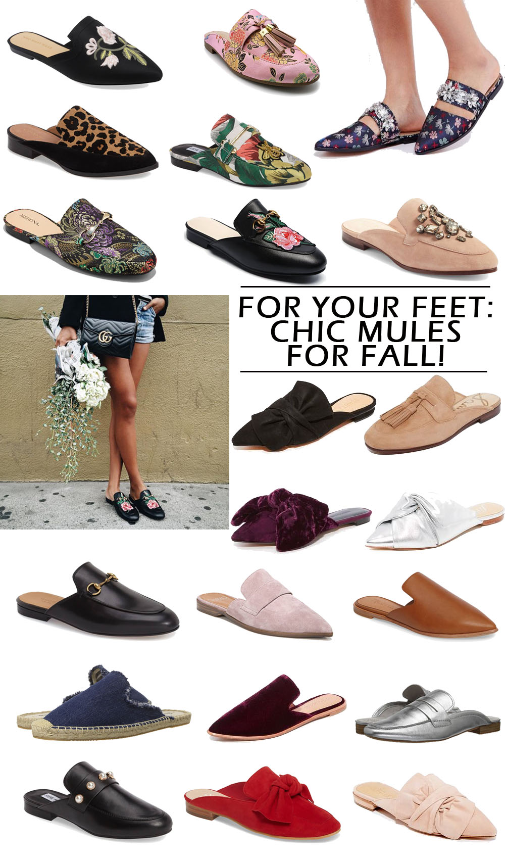 Mules for Fall! 20+ super wearable and chic styles to instantly update your outfit this fall