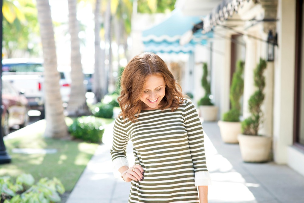 The perfect striped dress // the modern savvy