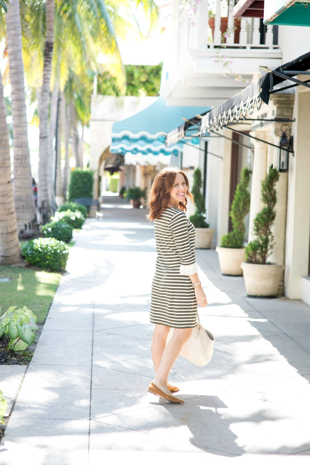 The throw on and go striped dress // the modern savvy