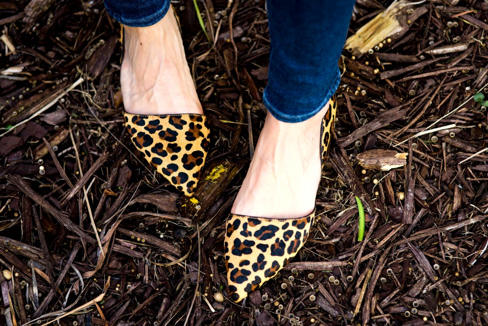 "Leopard pointy-toe flats (the perfect ""neutral"")"