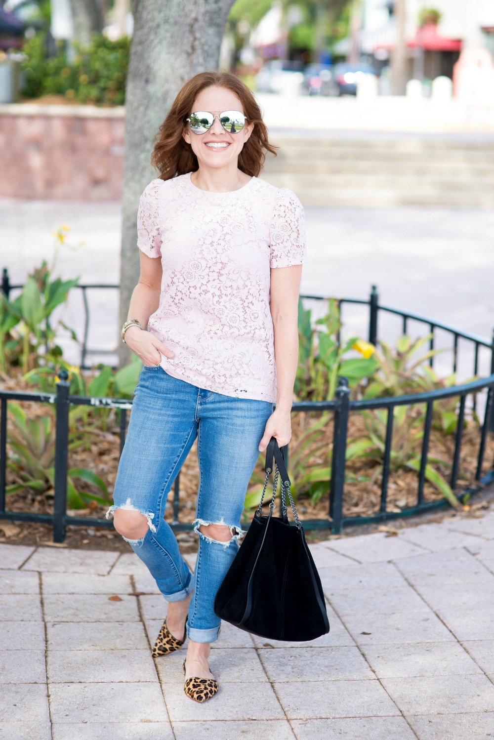 Easy fall outfit (especially when it's still warm out!)