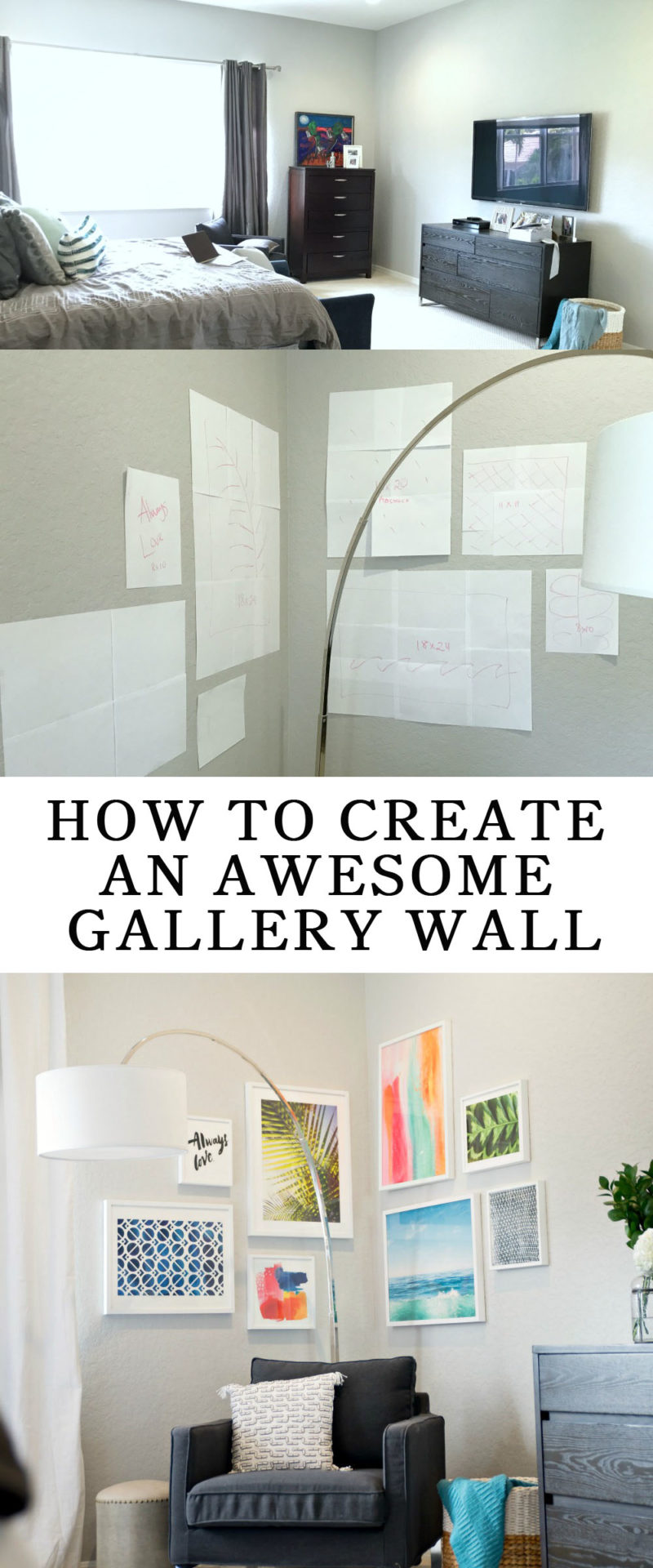 How to create your own awesome gallery wall -- tips from a designer! // the modern savvy