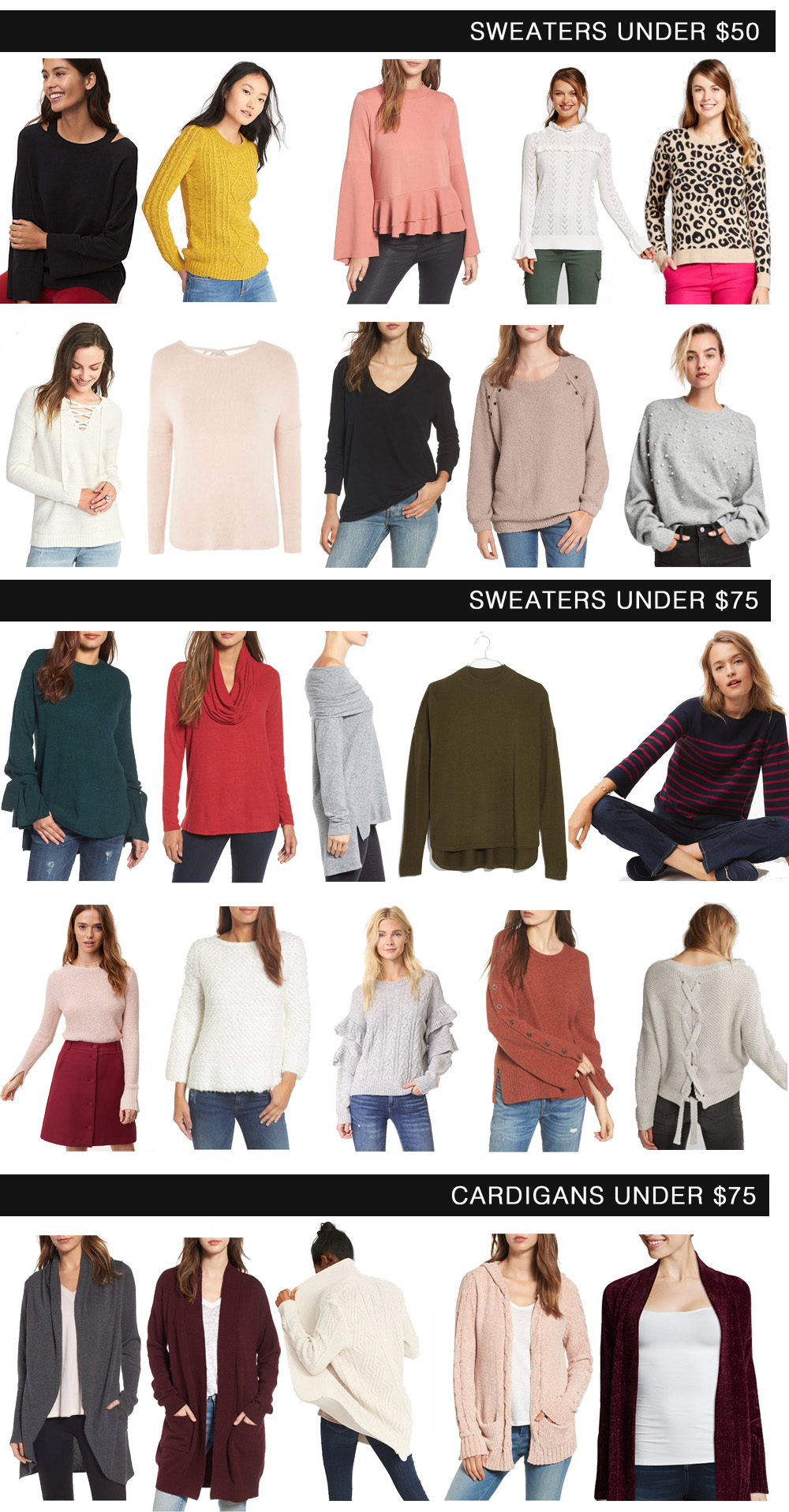 25 Awesome Sweaters Under $75 // the modern savvy, a life & style blog