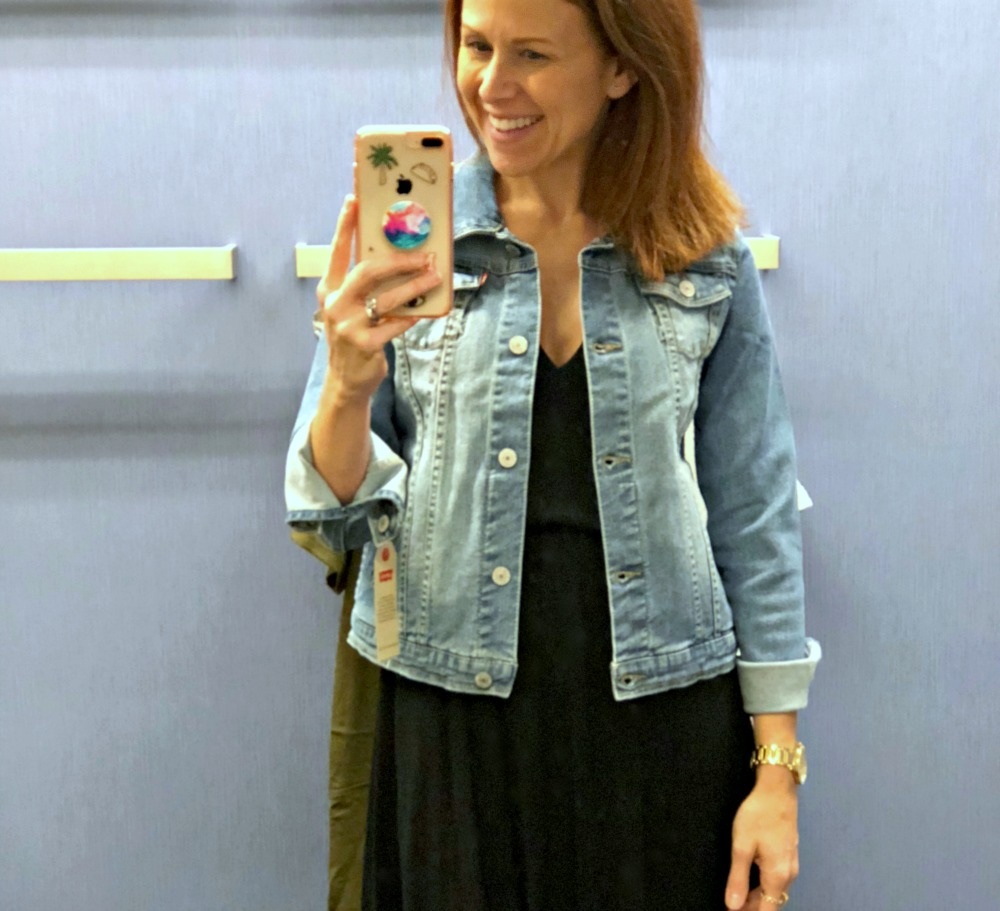 If you're petite... this girls Levi's jacket for $35 is a must!
