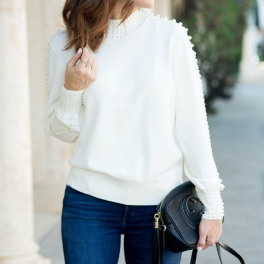 Pearl Sweater for a casual party // the modern savvy