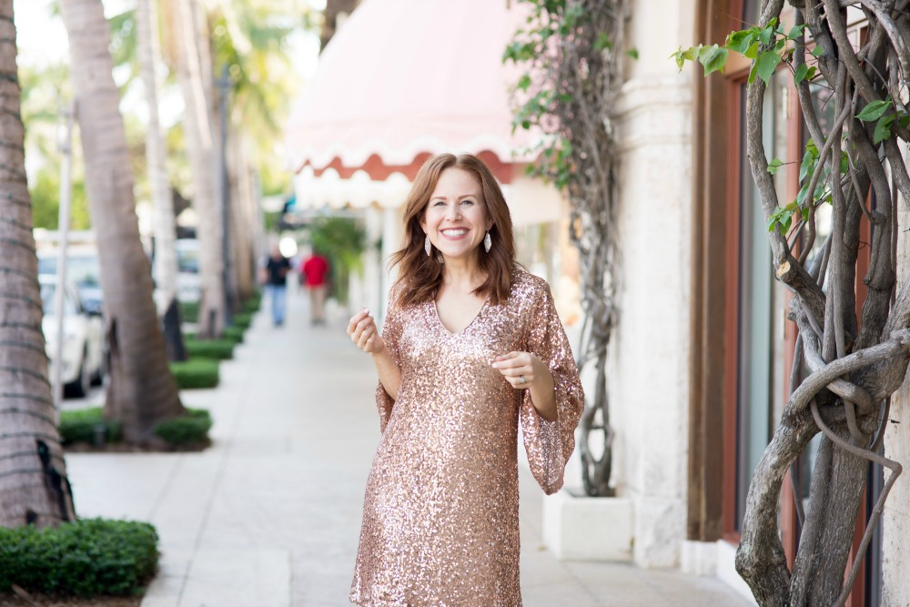 All the sequins! | Maggy London | Nordstrom | Two Cute Holiday Party Dresses featured by top Florida fashion blog The Modern Savvy