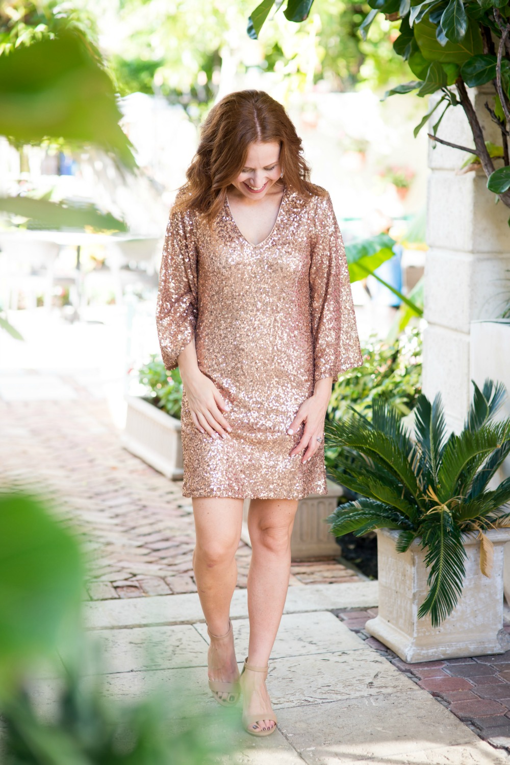 this sequin dress is a statement maker | Maggy London | Nordstrom | Two Cute Holiday Party Dresses featured by top Florida fashion blog The Modern Savvy