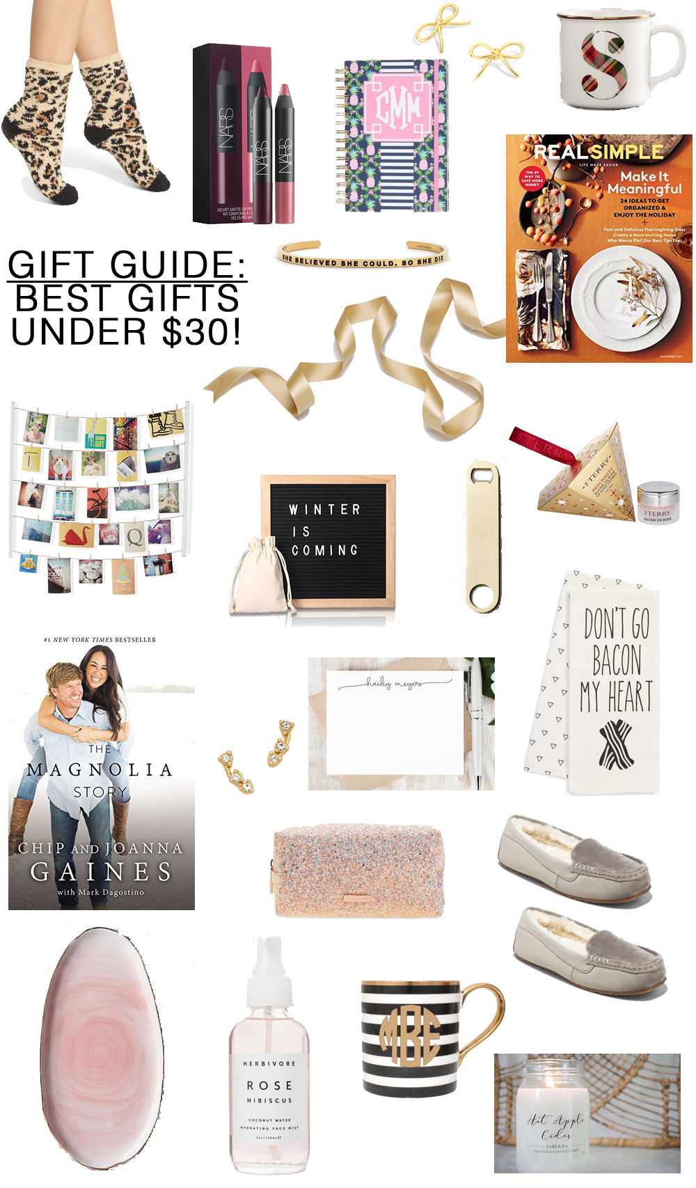 the best gifts under 30 perfect for the hostess teacher secret santa