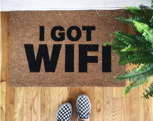 """I Got Wifi"" -- Where to find all the best and funniest door mats"