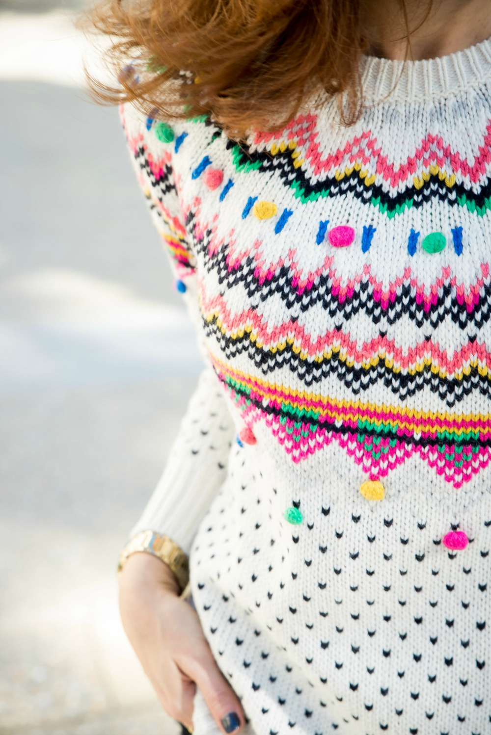 Fair isle sweater from Talbot's // the modern savvy