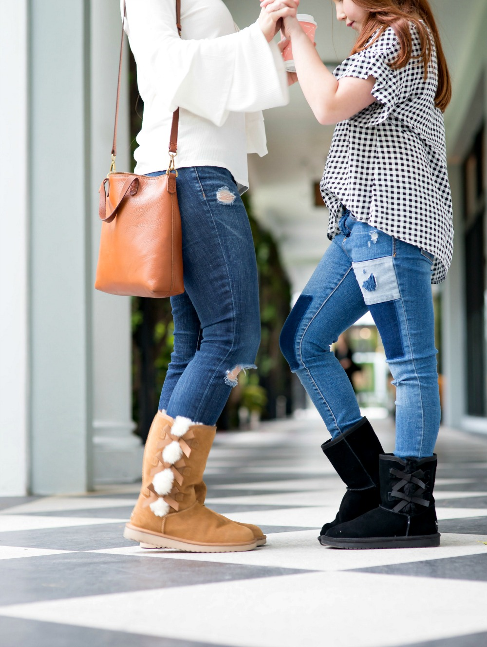 Koolaburra by UGG boots for moms and daughters - winter boots edition by popular Florida style blogger The Modern Savvy