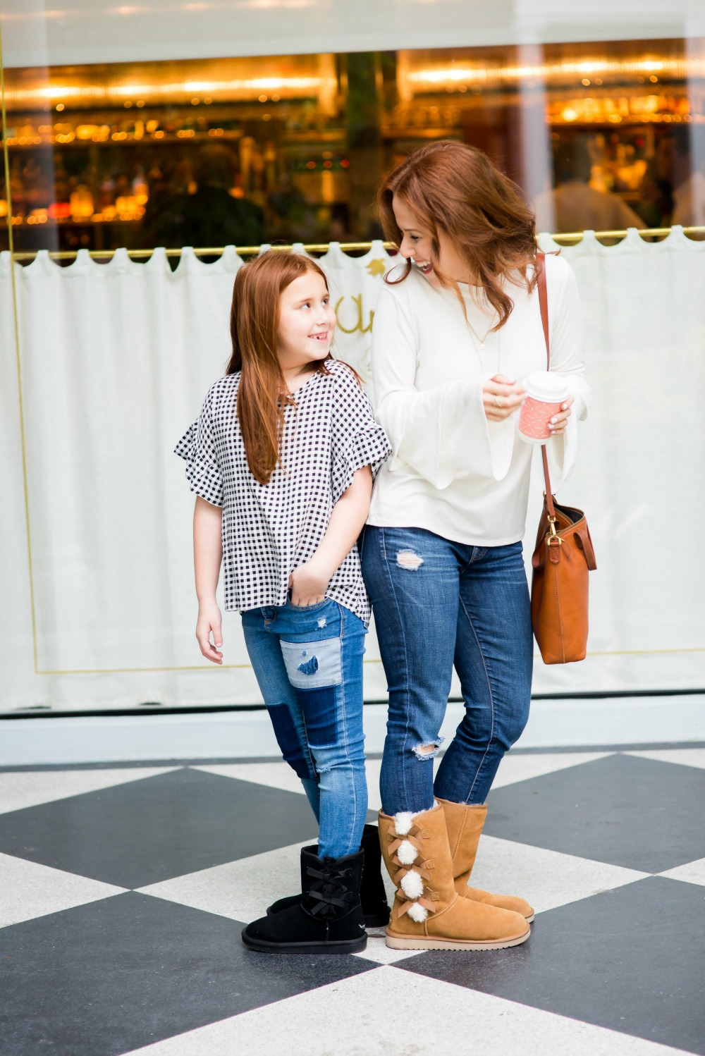 Cozy cute mother daughter winter style (on a budget!) - winter boots edition by popular Florida style blogger The Modern Savvy
