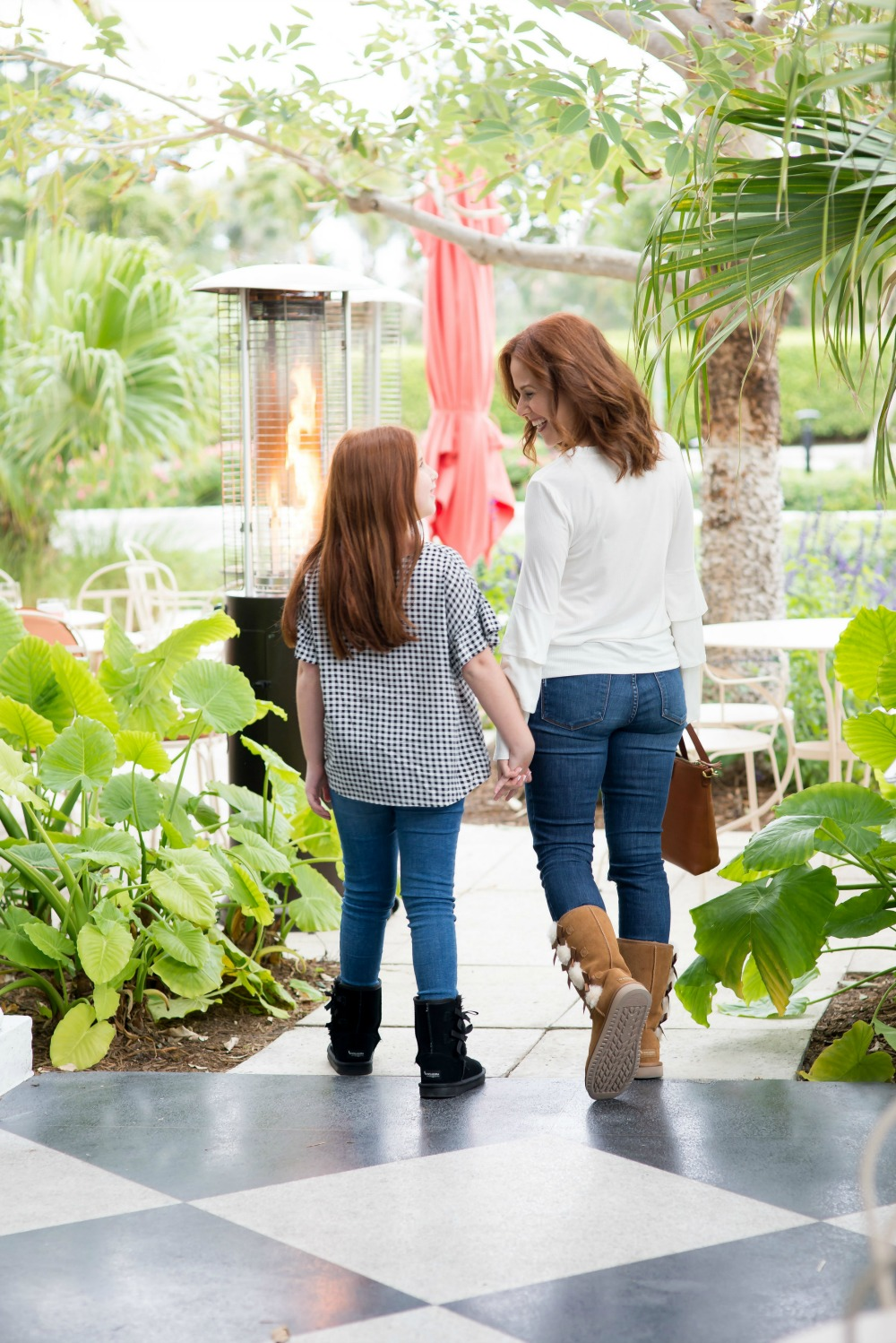 Mother Daughter Style in Palm Beach - winter boots edition by popular Florida style blogger The Modern Savvy