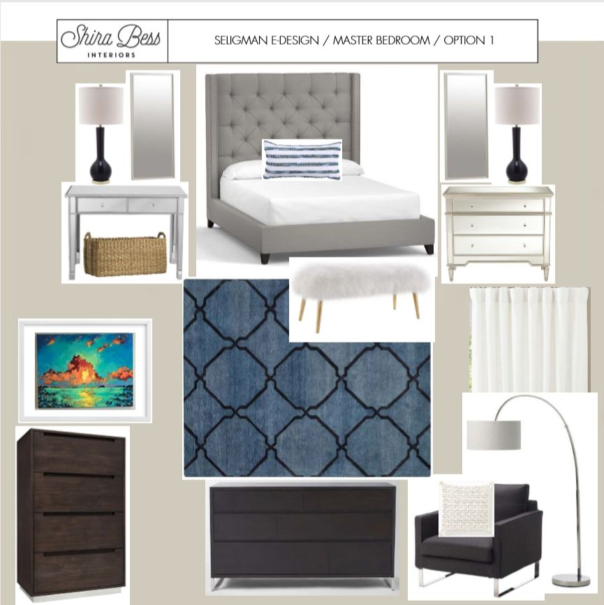 Shira Bess Interiors Master Bedroom Redesign by popular Florida style blogger The Modern Savvy