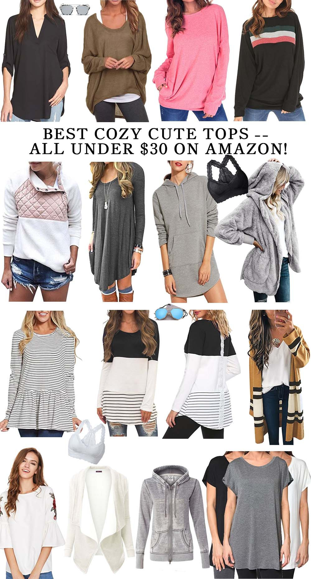 The Cutest, Coziest Tops -- under $30 on Amazon! // the modern savvy