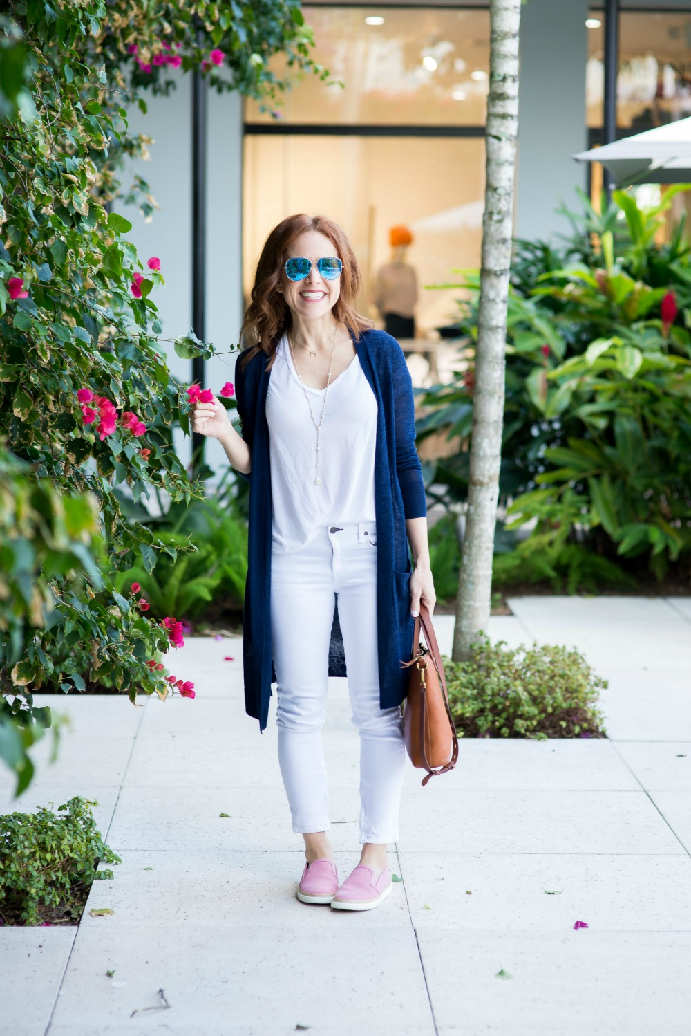 How to style a white tee and jeans - White Tee and Jeans outfit by popular Florida style blogger The Modern Savvy