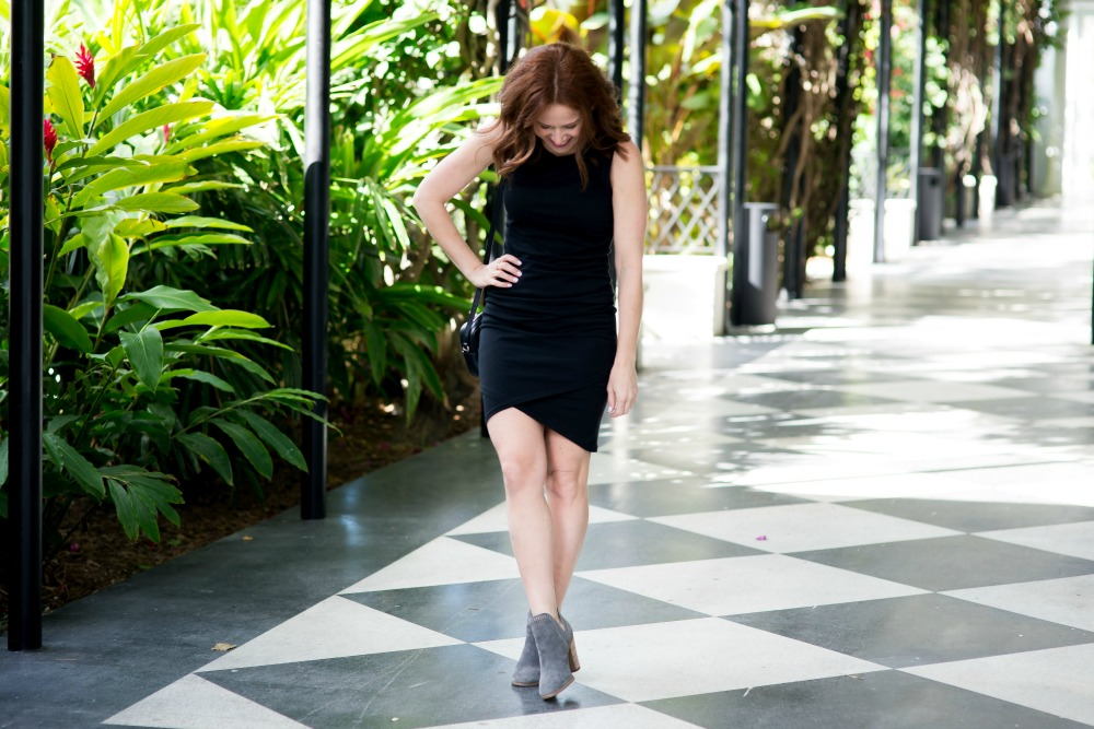 Cute spring date night style - the $56 Black Midi Dress Every Blogger Loves by popular Florida fashion blogger The Modern Savvy